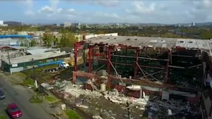 Drone video capture immense damage to San Juan following Hurricane Maria
