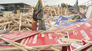 Hundreds of election signs confiscated in Surrey