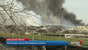Fire at Pitt Meadows nursery
