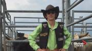 Play video: Steer rider with autism fulfills dream at Calgary Stampede