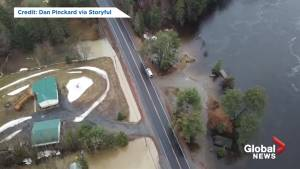 Drone footage shows rising water levels as Huntsville deals with 'most devastating flooding since 2013'