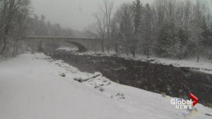New Brunswick deals with springtime winter wallop