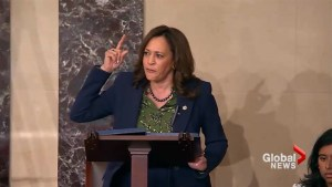 'Nobody is entitled to a seat on the Supreme Court': Kamala Harris gives impassioned rebuke of FBI probe