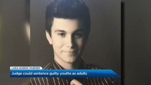 Sentencing expected for three youths in Luka Gordic case