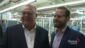 Ontario Premier Doug Ford tours Cameco plant in Port Hope