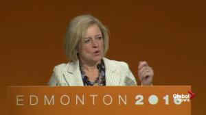 Alberta premier Rachel Notley talks about jobs and diversification