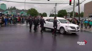 Regimental funeral procession for 2 fallen Fredericton police officers