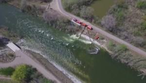 Provincial officials visit flooded spots in south Okanagan