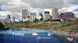 Edmonton early morning weather forecast: Monday, September 17, 2018