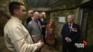 Trudeau, Hollande, British royals given tour of tunnels beneath Vimy Ridge (01:41)
