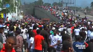 Protesters demand removal of Haitian president