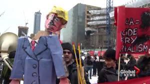 Montrealers protest as Trump sworn in as U.S. president