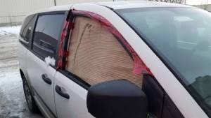 D'Arcy's A.R.C. van window smashed in Winnipeg