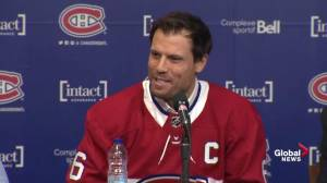 Shea Weber jokes father's reaction to being named Canadiens captain