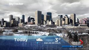 Edmonton early morning weather forecast: Tuesday, April 17, 2018