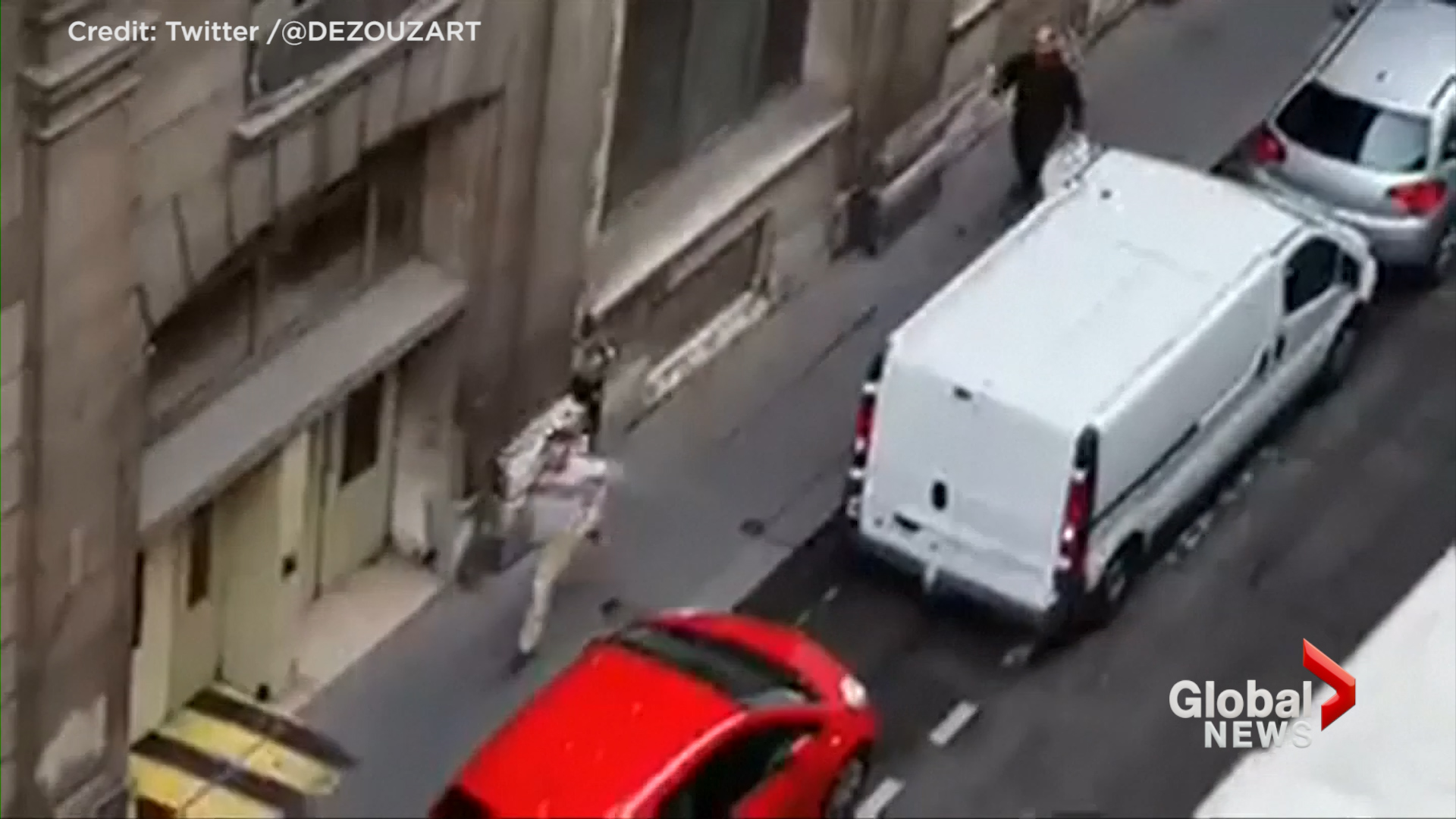 Man shot by police following Paris knife attack