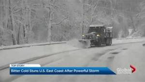 Dangerous conditions as parts of U.S. East Coast ice over