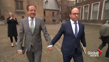 A gay couple was beaten for holding hands, so Dutch men