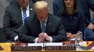 Trump hails North Korea peace talks during speech before the UN