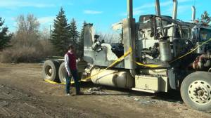 Central Alberta family fears for safety after fire, hateful vandalism