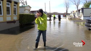 Residents of flooded West Island trailer park waiting for green light to go home