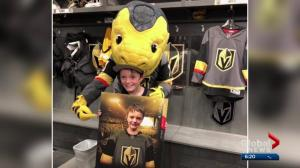 Edmonton health matters: local boy hits the ice with Golden Knights