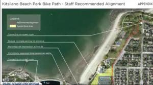 Heated debated expected over Kits Beach bike lanes