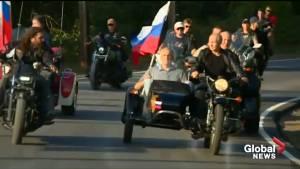 Vladimir Putin attends bike show on annexed peninsula of Crimea