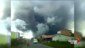 Indonesian volcano Mount Sinabung erupts