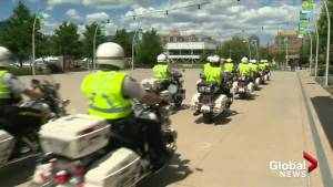 RCMP motor officer trainees descend on Kelowna (01:15)