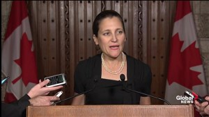 Freeland: Canadian government closely monitoring Zimbabwe situation