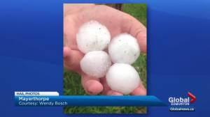 Summer thunderstorm rolls through central Alberta
