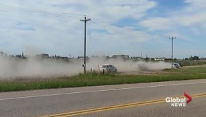 Police pursuit caught on video near Maskwacis