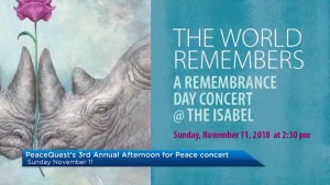"A preview of PeaceQuest's third annual concert ""The World Remembers: An Afternoon for Peace"""