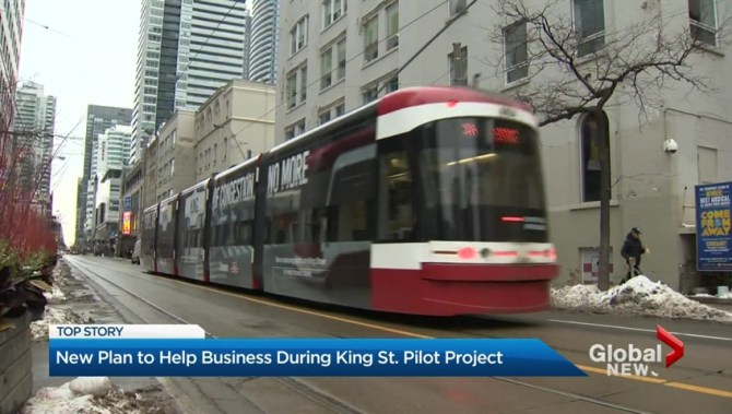 TTC Toronto King Street Transit Streetcar Priority Pilot Flyer Information Rail