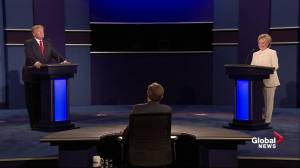 Presidential debate: Donald Trump refuses to say whether he will accept the result of the election