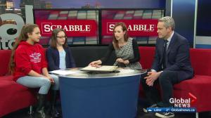 Young Edmonton Scrabble champions take Global News anchors to task