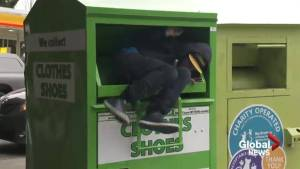 Burnaby RCMP respond to man in donation bin
