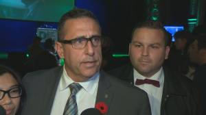 Jim Beis reacts after Denis Coderre loses election