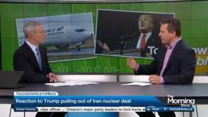 Trump pulls out of the Iran nuclear deal and a WestJet apology in this week's Touchdowns & Fumbles