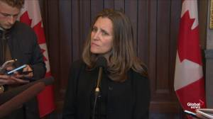 Freeland says no intention to re-introduce steel, aluminum tariffs