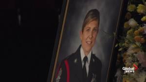 Husband of slain Fredericton officer Cst. Sara Burns bids tearful goodbye (10:18)