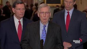 McConnell says Pelosi preventing deal being reached to avert government shutdown