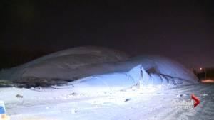 Baie d'Urfé sports dome crumples