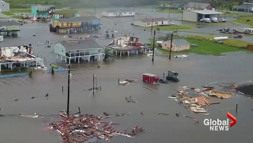 Hurricane Harvey devastates small town of Rockport, Texas - National |  Globalnews.ca