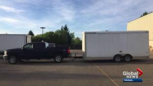 Trailer containing props stolen from Edmonton dance studio