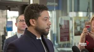 Jussie Smollett's full statement outside court after charges dropped