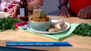Caribbean cuisine at Grace JerkFest
