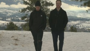 Two young Kelowna men say they feel lucky to be alive after being lost for more than 24 hours on a snow-covered mountain in freezing temperatures