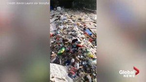 Waves of garbage wash ashore in Hong Hong following Super Typhoon Mangkhut